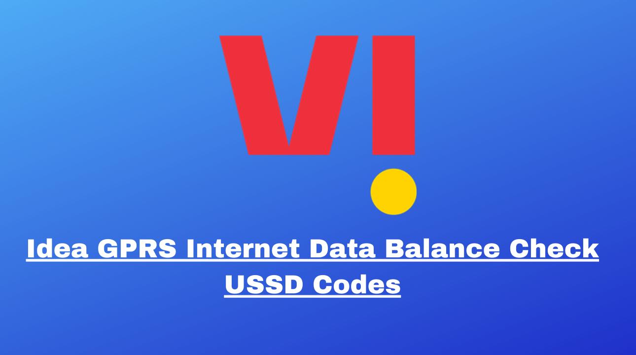 Idea GPRS Internet Data Balance Check USSD Codes