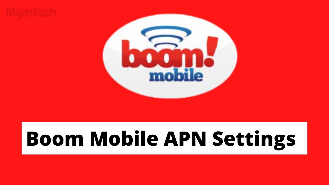 boom mobile apn settings