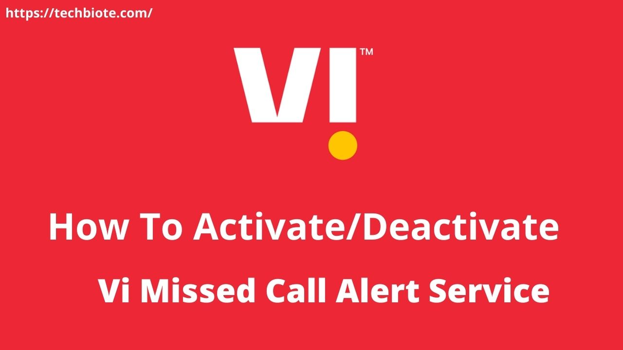 Activate Deactivate Vi Missed Call