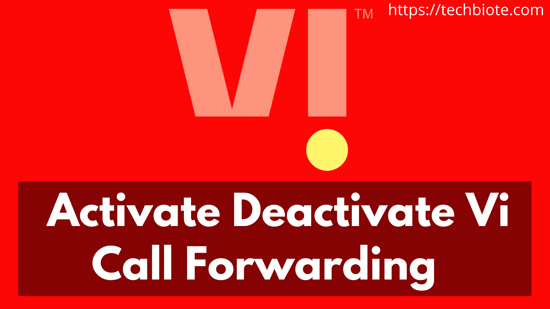 Activate/Deactivate Vi Call Forwarding