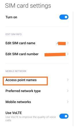 Airtel APN Settings For High Speed Internet