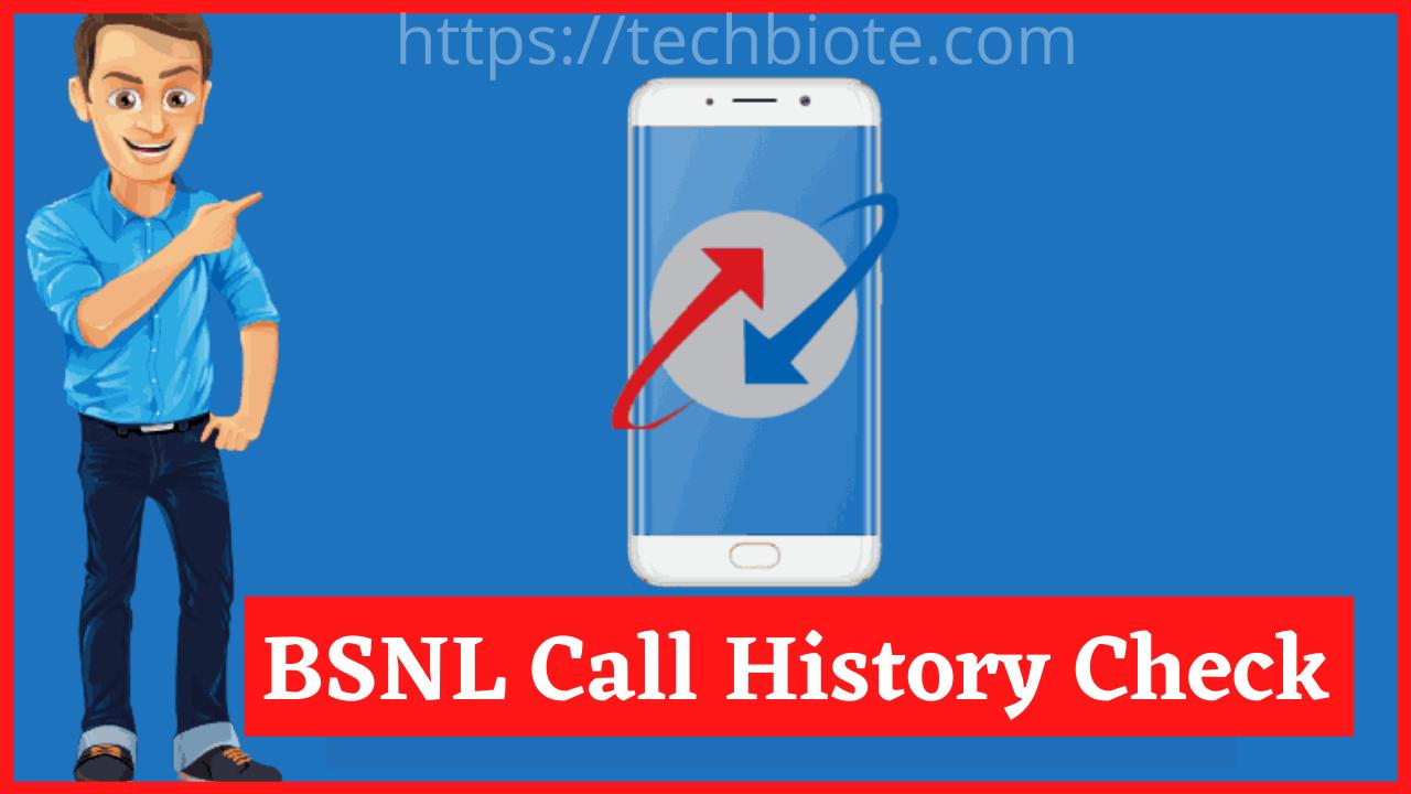 BSNL Call History Check