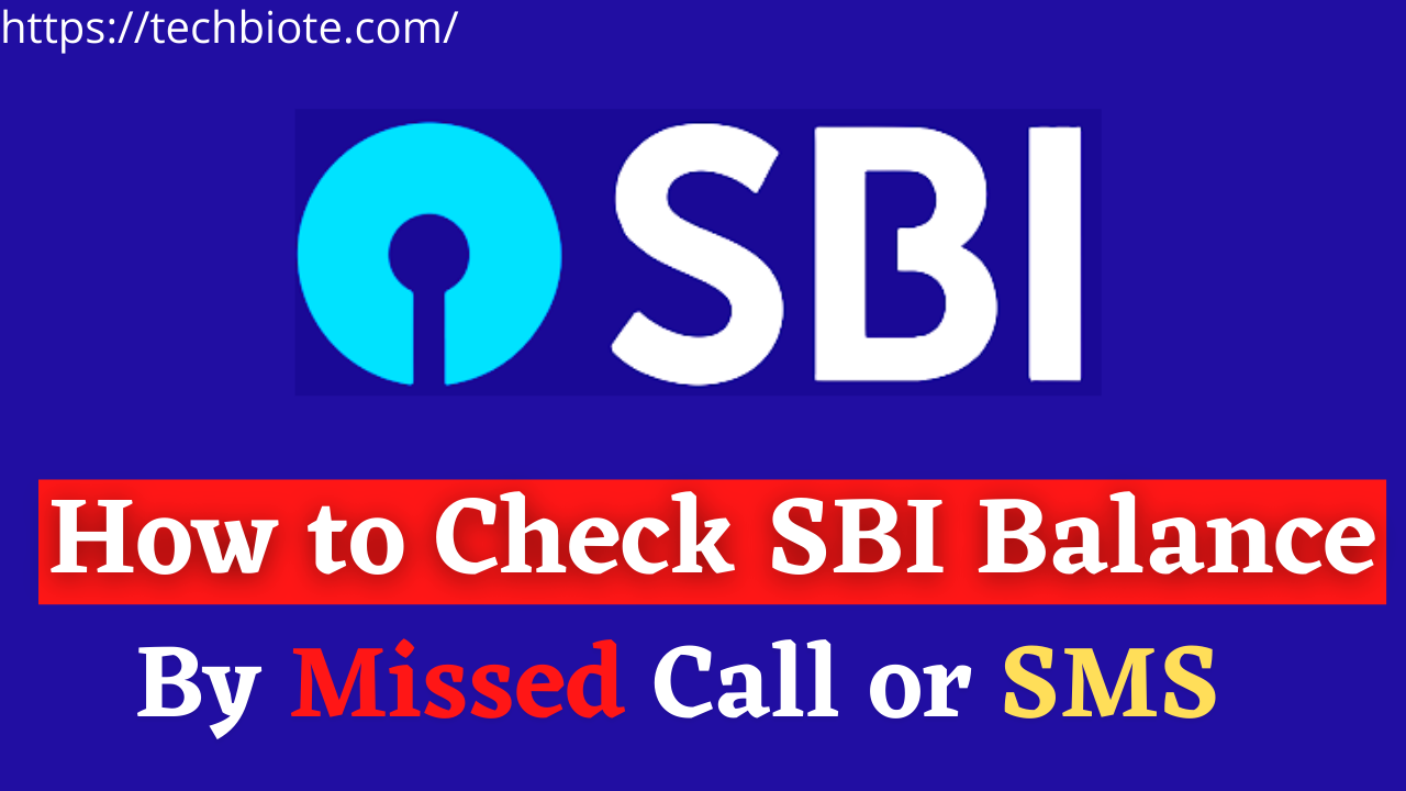How to Check SBI Balance