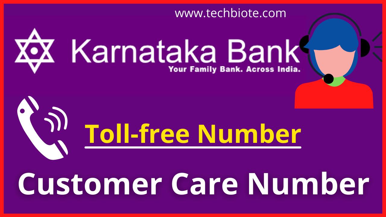 Karnataka Bank Customer Care Number