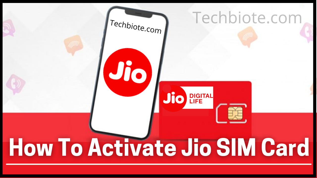 How To Activate Jio SIM Card Number