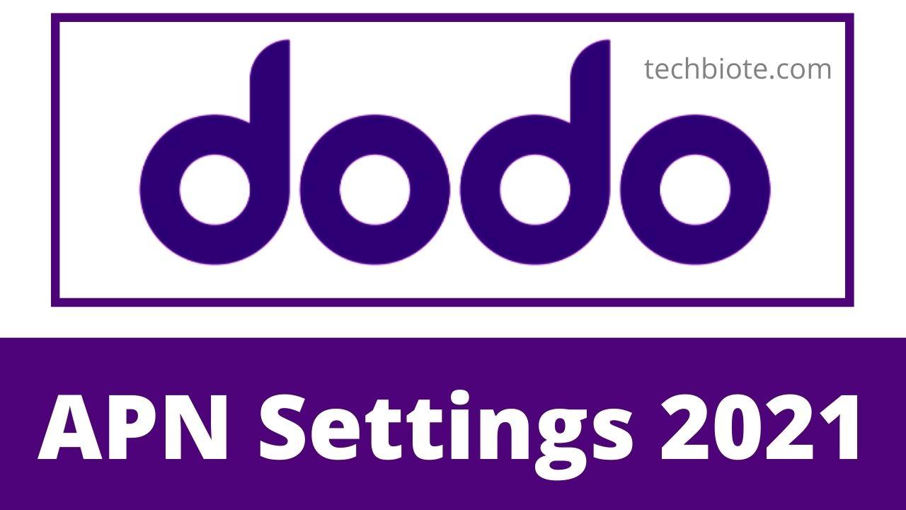 Dodo APN Settings