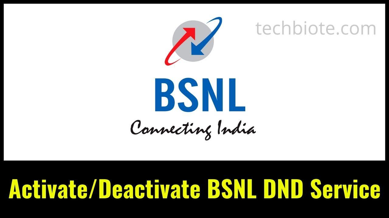 Activate Deactivate BSNL DND Service