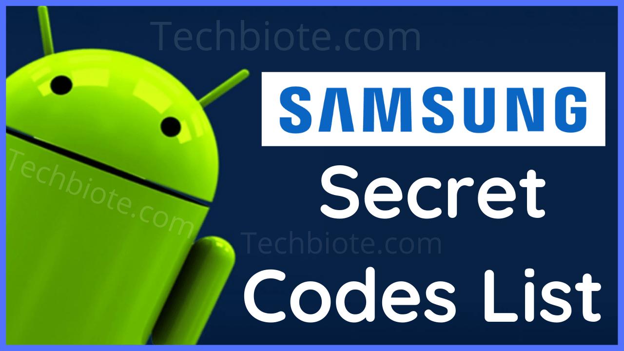 All Samsung Secret Codes List
