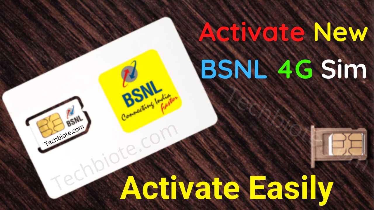 How To Activate New BSNL 4G SIM