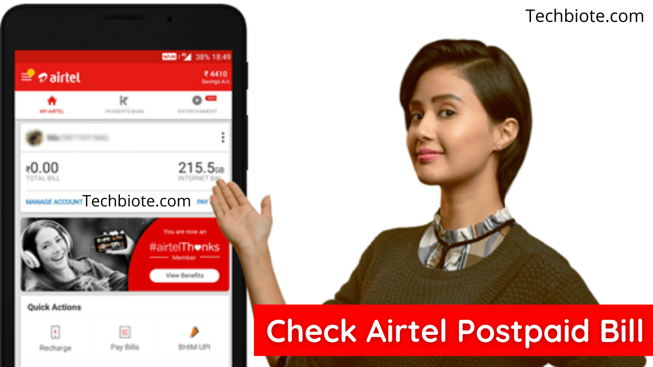 How To Check Airtel Postpaid Bill