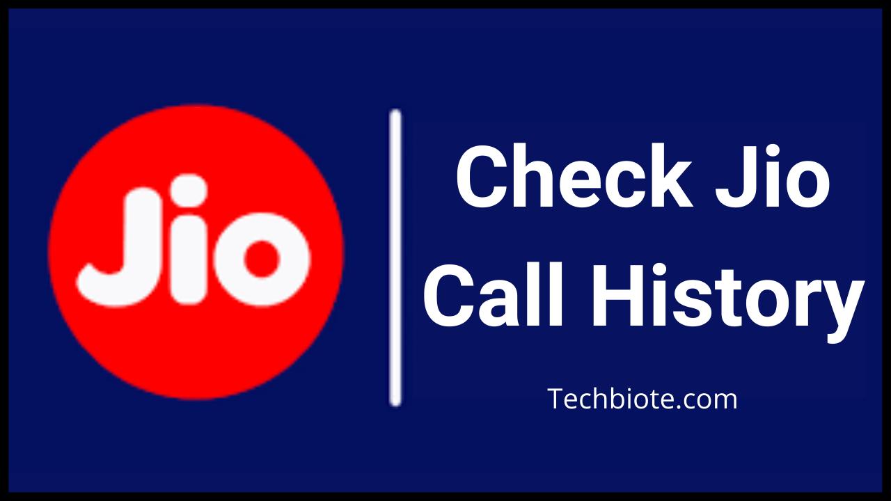 Jio Call History