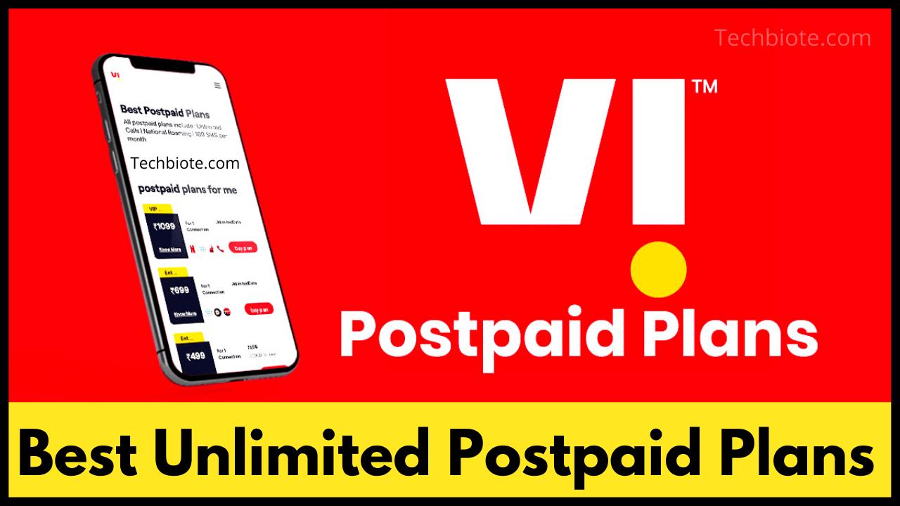 Vi Best Unlimited Postpaid Plans
