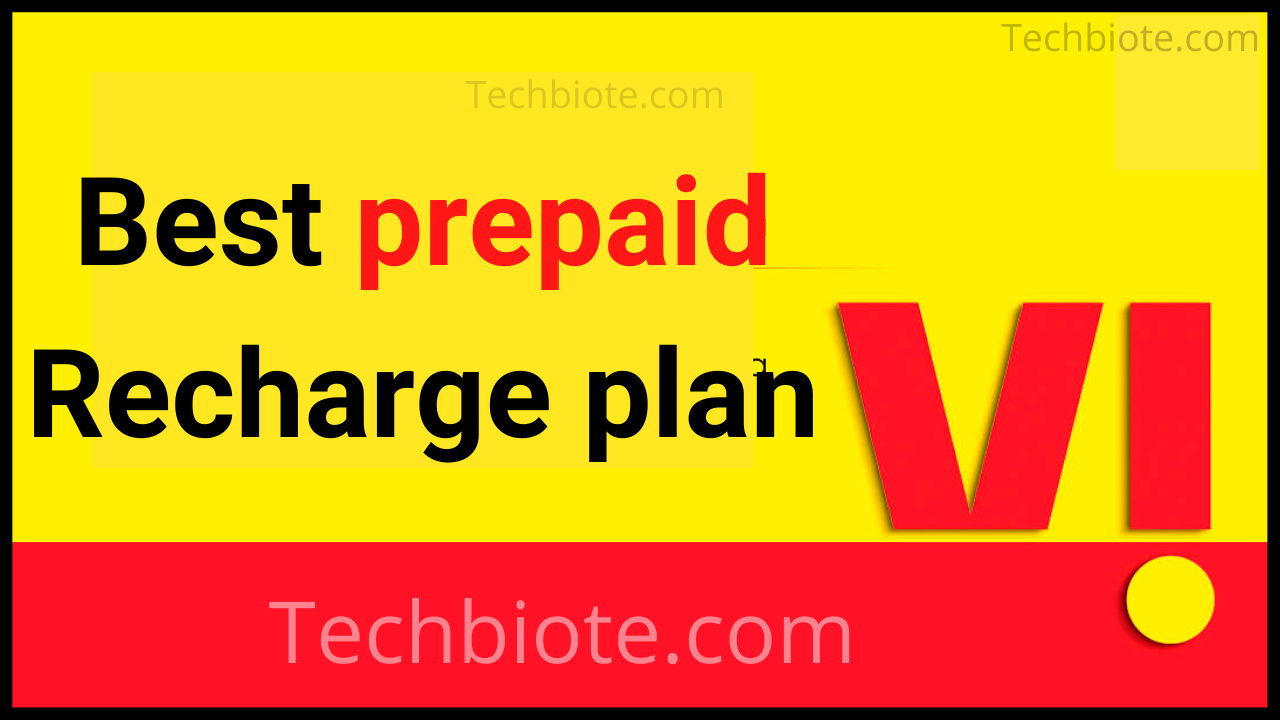 Vi Prepaid Recharge Plan