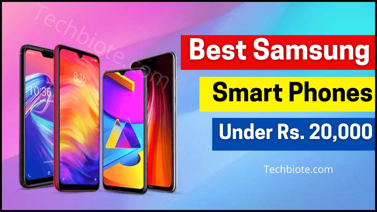 Best Samsung Mobiles Under 20000