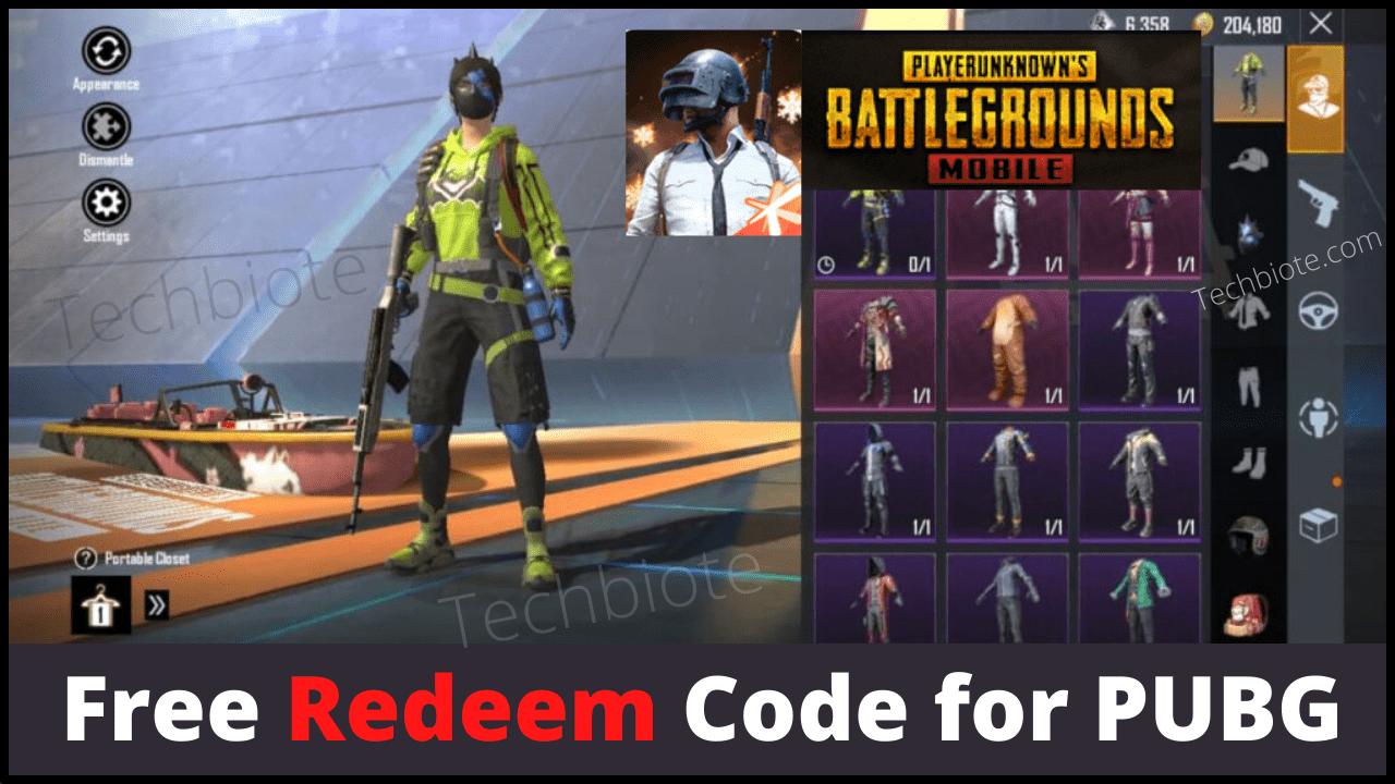 PUBG Redeem Code